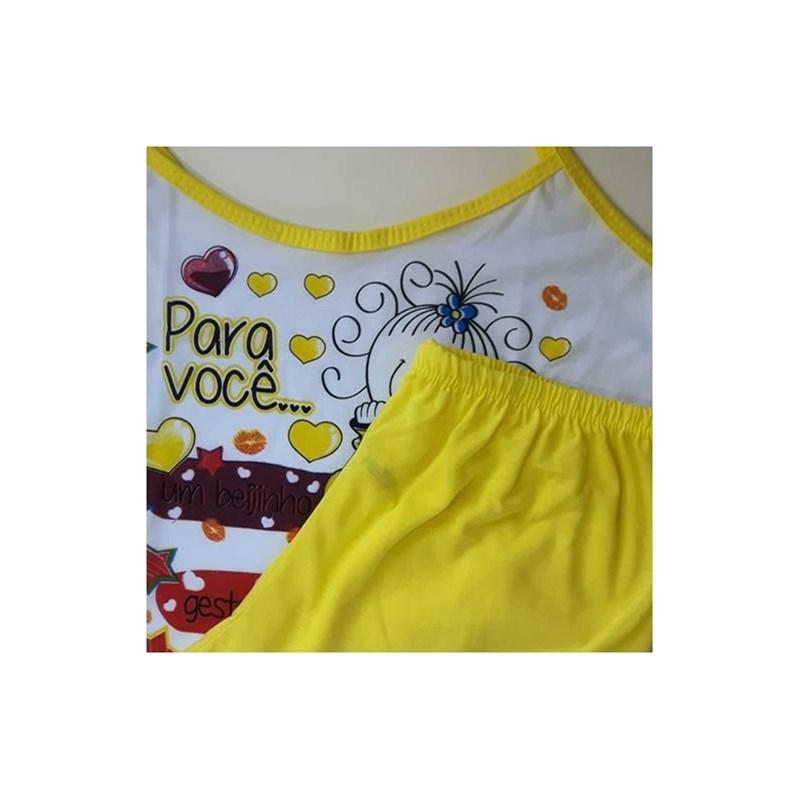 Baby doll de Malha, camisetinha e short   008