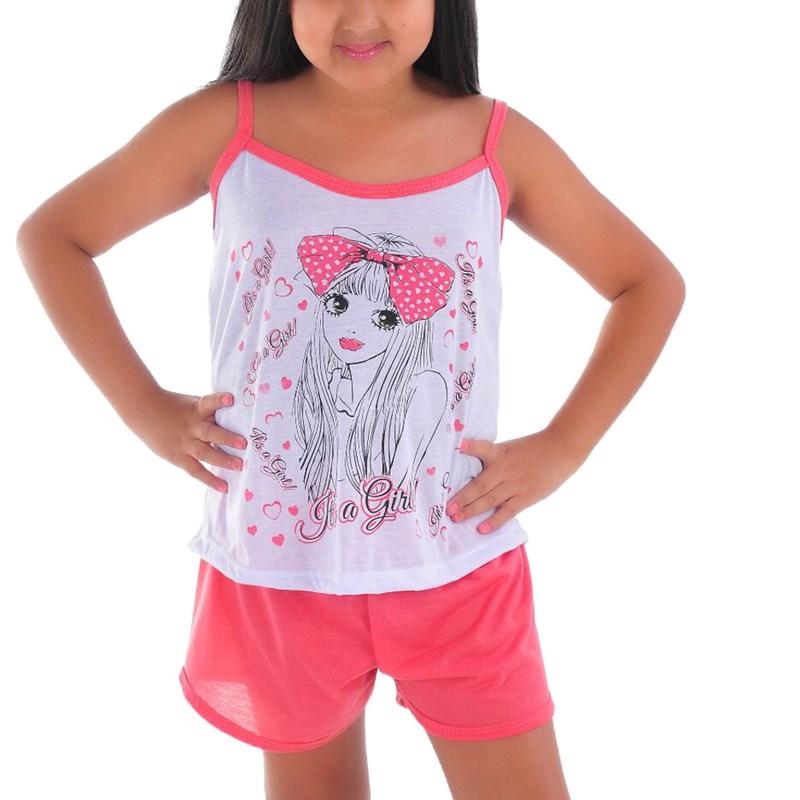Baby Doll Infantil Camiseta e Short | 009
