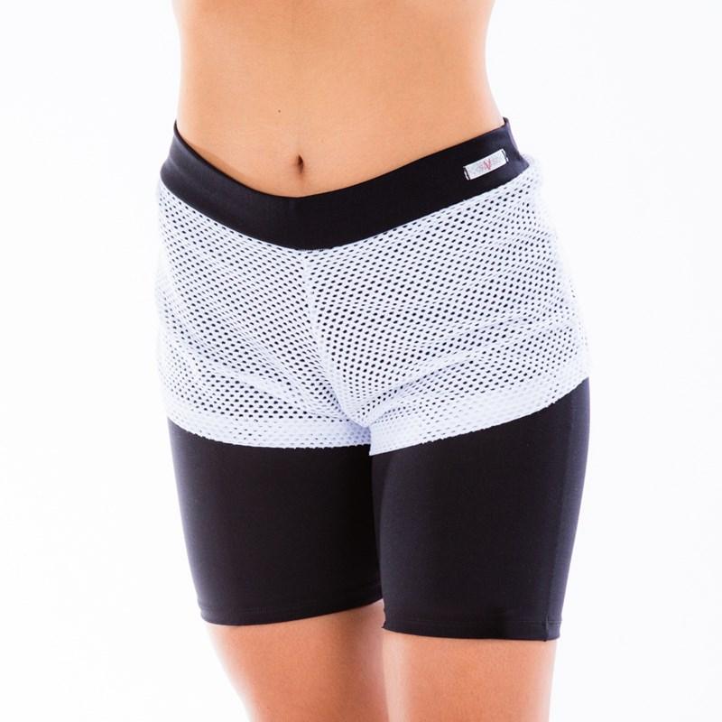 Bermuda Fitness com Tela Short Tapa Tudo | Judy 1685