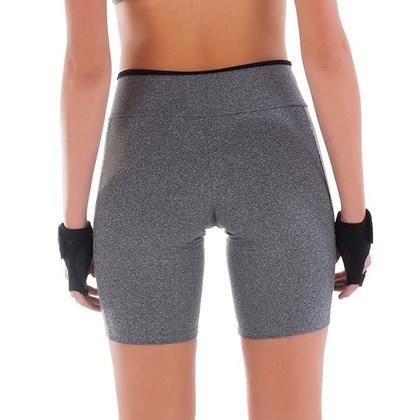 Bermuda Fitness Mescla com Grade Lateral | Fran 1551
