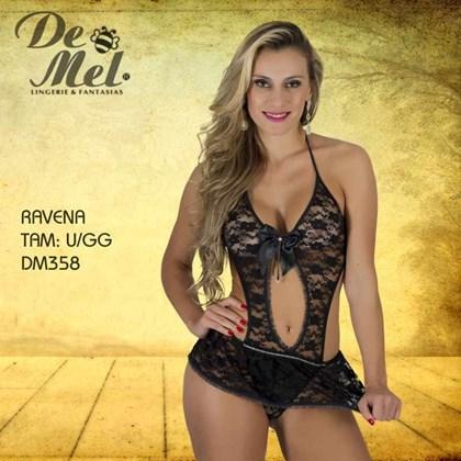 Body erótico ravena - Body Sensual  bdb56570a25