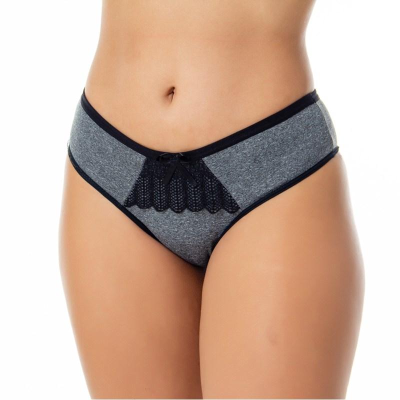 Calça Conforto Mescla e Detalhe em Renda | 566