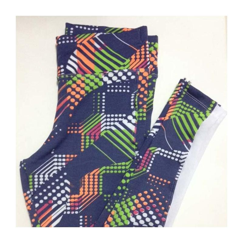 Calça Legging Colorida com Telinha na Lateral | Nude1808