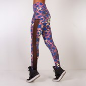 Calça Legging Colorida com Telinha na Lateral   Nude1808