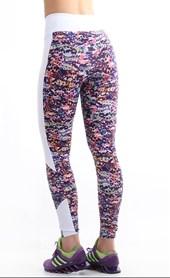 Calça Legging Colorida Estampada Cós Médio 8cm | Nina1804