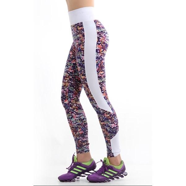Calça Legging Colorida Estampada Cós Médio 8cm   Nina1804