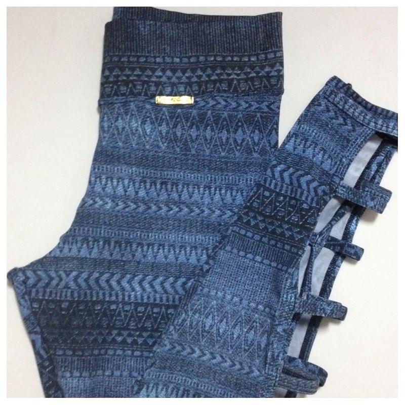 Calça Legging com abertura nas panturrilhas | Ataque