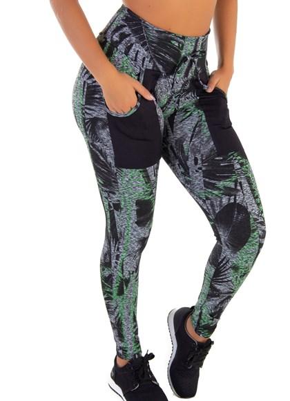 Calça Legging Com Bolso para  Celular | Green Forest 6021