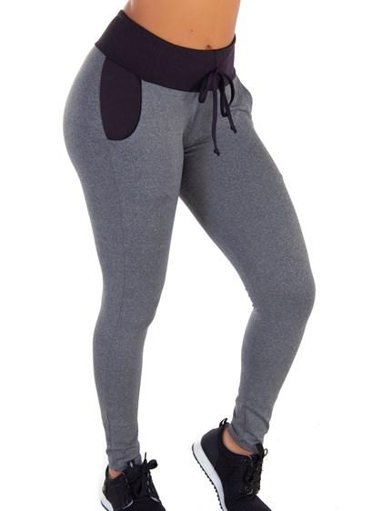 Calça Legging com Bolso Real e Cardaço | Soft Style 6020