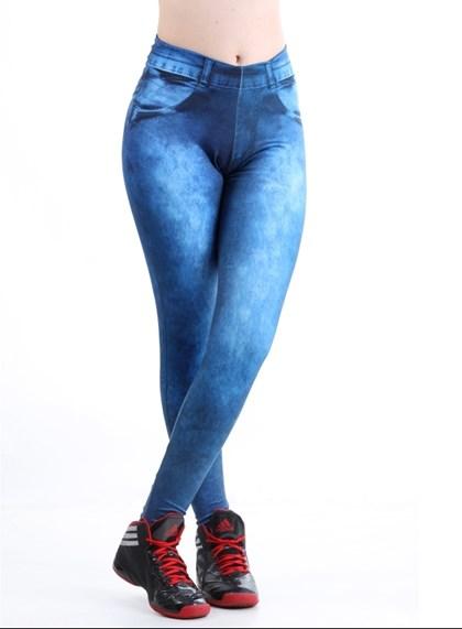 Calça Legging Fake Jeans    lJeans