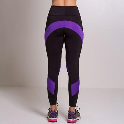 Calça Legging Fitness com cós duplo e detalhe de recorte | Dany
