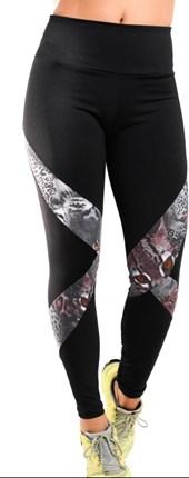 Calça Legging Fitness com cós duplo e detalhe de recorte   Dany