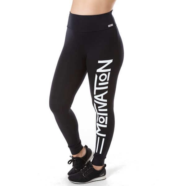 Calça Legging Fitness Cós Duplo com Silk | Motivation 1739