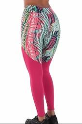 Calça Legging Fitness estampada com cortes   lMagic