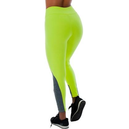 Calça Legging Neon em Confort Plus Farbe Poliamida com Mescla   10347