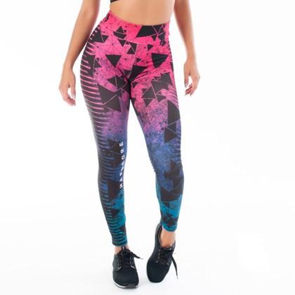 Calça Legging Pink Hardcore Geometrics | Fitness 2216