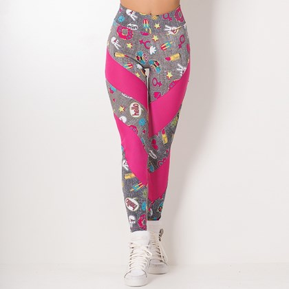 Calça Legging Pink Hello Girls | Hera