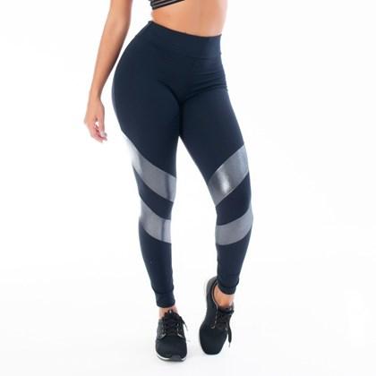 Calça Legging Poliamida com Recorte que Brilha | 2219