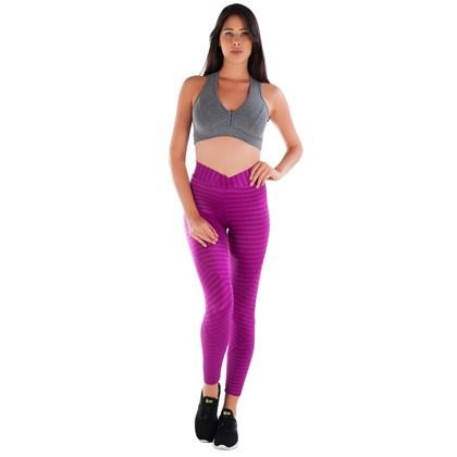 Calça Legging Poliamida Roxo Cintilante | New Vision RX