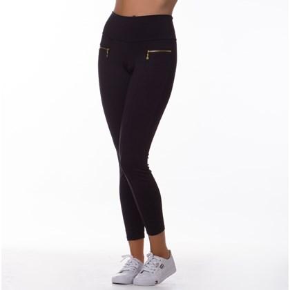 Calça Legging Tradicional com detalhe de Ziper (sem bolso) | Zipper 4124