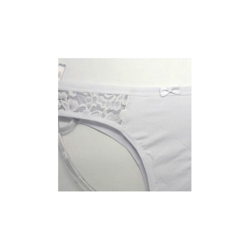 Calcinha Básica Confortável com Renda na Lateral   Ivete 104