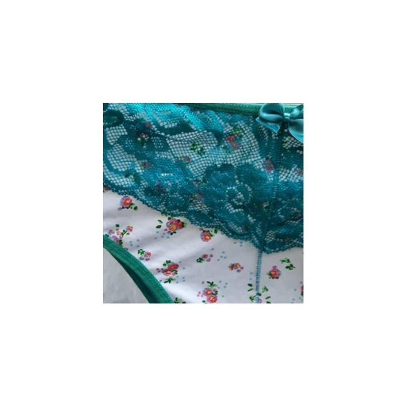 Calcinha Confortavel em Microfibra e Renda | Valquiria