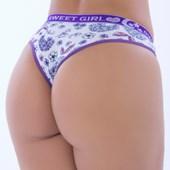 Calcinha de Algodão Especial com elástico 25mm | Sweet Girl 8032