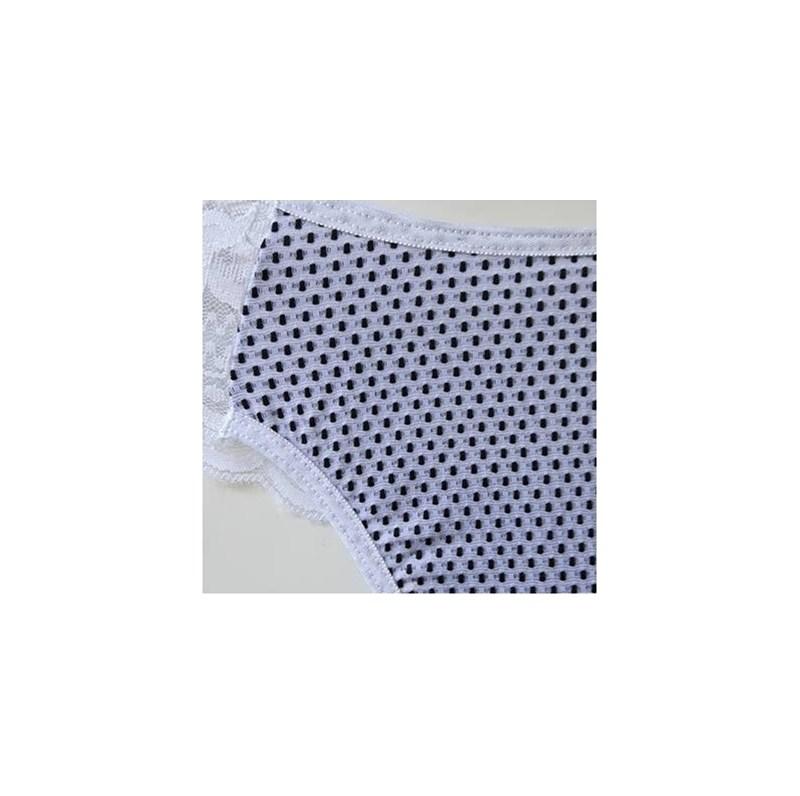 Calcinha em microfibra texturizada poá e renda | Taty