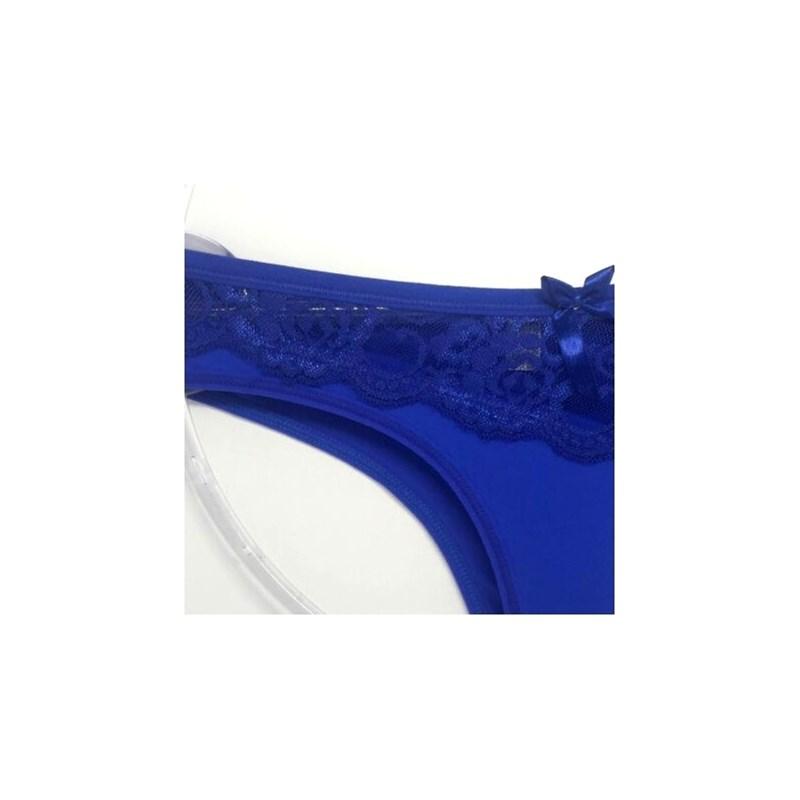 Calcinha em Poliamida Confortável Básica Com Renda | Brenna 109