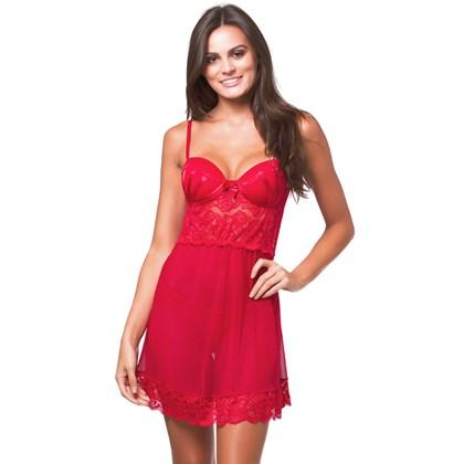 Camisola Com Bojo em Tule Suave e Renda | Sexy 8011