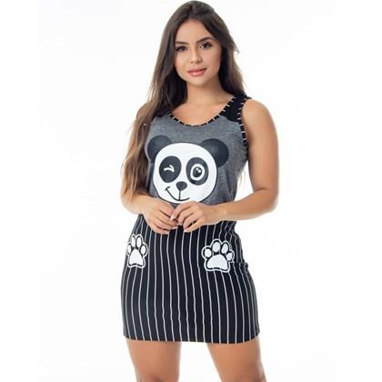 Camisola Longa em Malha Confort | Pijama Panda 2768