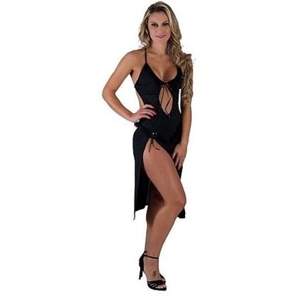 Camisola Longa Sexy com Alças de amarrar | Allana