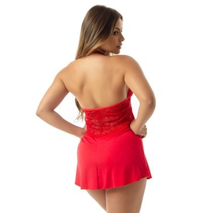 Camisola Sexy Frente Única em Renda | Celeste 6031