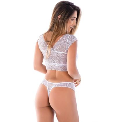 Conjunto Cropped Blusinha e Calcinha Fio Sexy | Cleo 1689