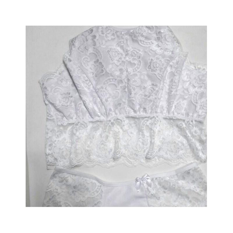 Conjunto Cropped sem Bojo e Caleçon | 20001