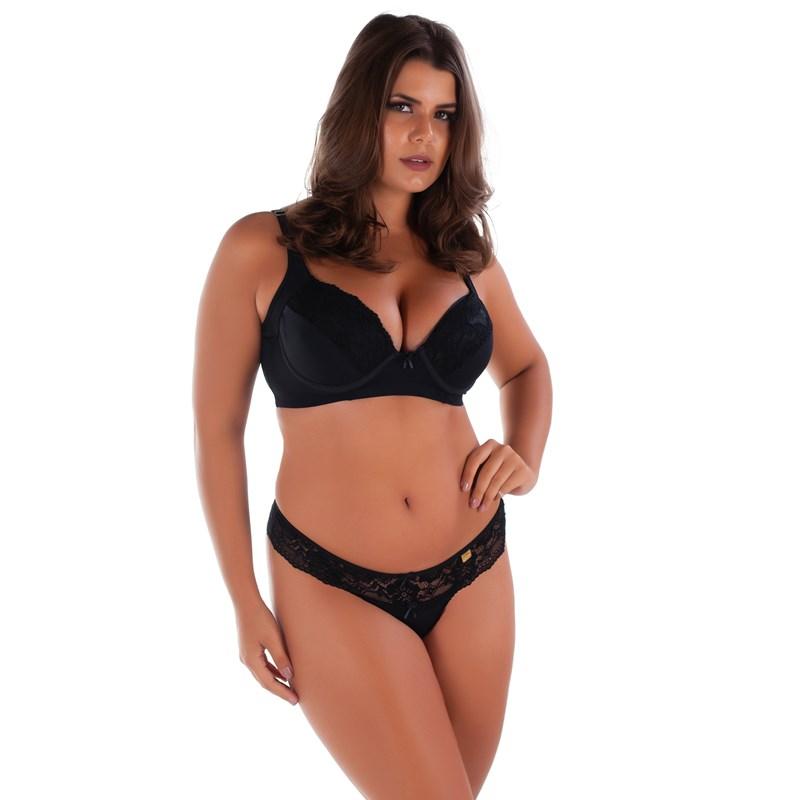 Conjunto de Lingerie Plus Size Bojo e Renda | Suzane