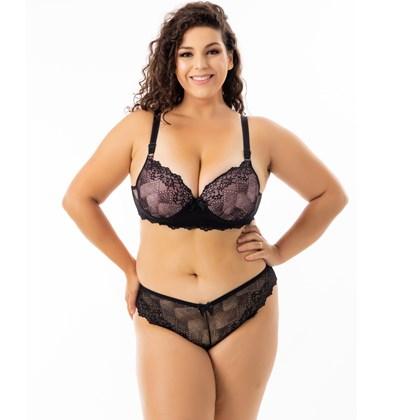 Conjunto de Lingerie Sensual Plus Size com Renda | Zani 6614