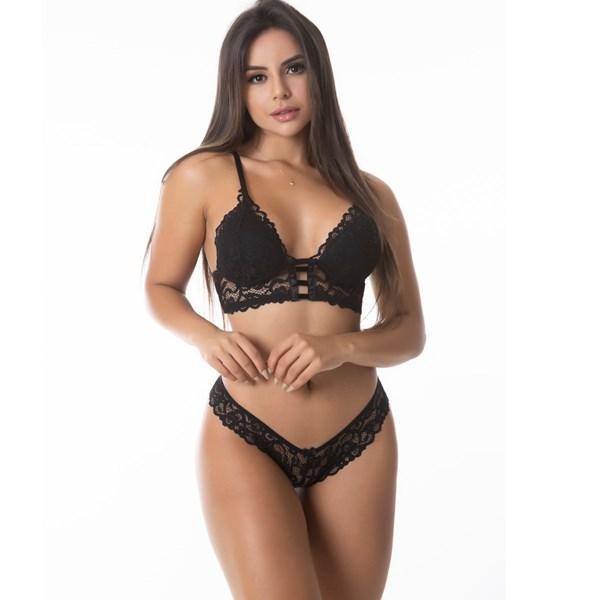 Conjunto Sensual Renda Confort   Yasmin