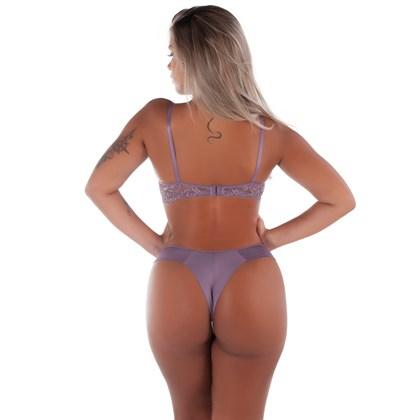 Conjunto Sexy de bojo com Calcinha Transparente | Fio Duplo 4315