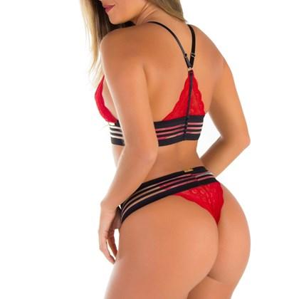 Conjunto Sexy Especial Sem bojo em Renda | Nude 1641