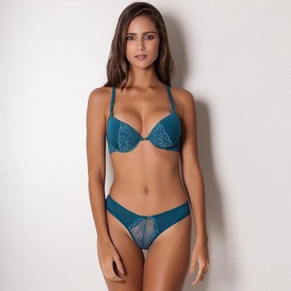 Conjunto Sexy Transparente Push-Up Nadador | Tatiani 4313