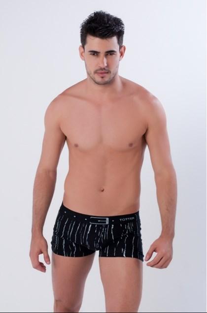 Cueca Boxer em Algodão Penteado estampado elástico 35mm | Totter 8019