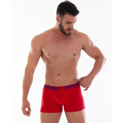 Kit 10 Cueca Boxer Conforto em Cotton Liso Totter |Kit 8029