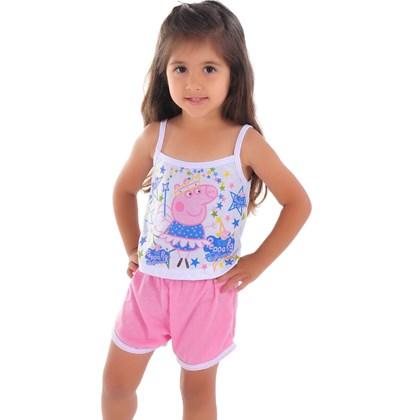 Kit c/ 5 Baby Dolls Infantil Camisetinha   Kit 5 009