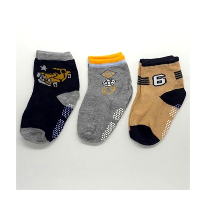 Kit com 3 Meias Infantis Masculina  | Boy's Socks