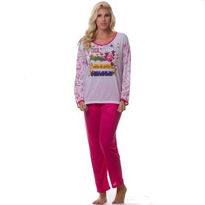 abd7cc8b7 ... Kit com 5 Pijamas Femininos Manga Longa em Malha | 159