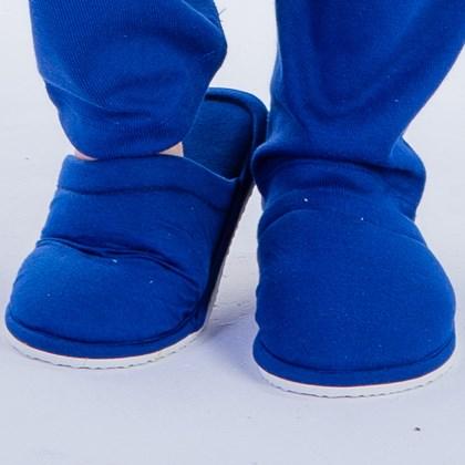 Pantufa Adulto Canelada Azul Marinho   18206
