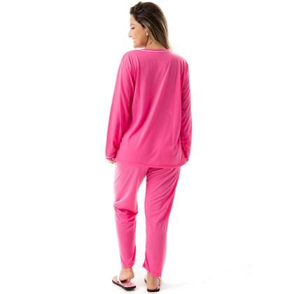 Pijama Confort Longo em Malha Suave Lisa | 177
