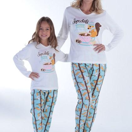 Pijama Inverno Feminino Hot Chocolate | Mãe e Filha 18101