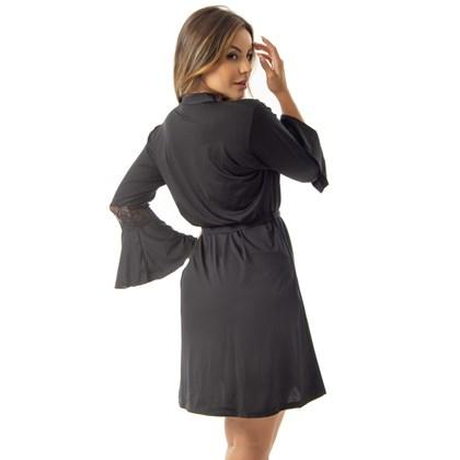 Robe Curto Manga Longa Detalhe em Renda | Scarlett 6023